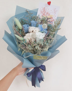 Shades of Blue - Happy Florals