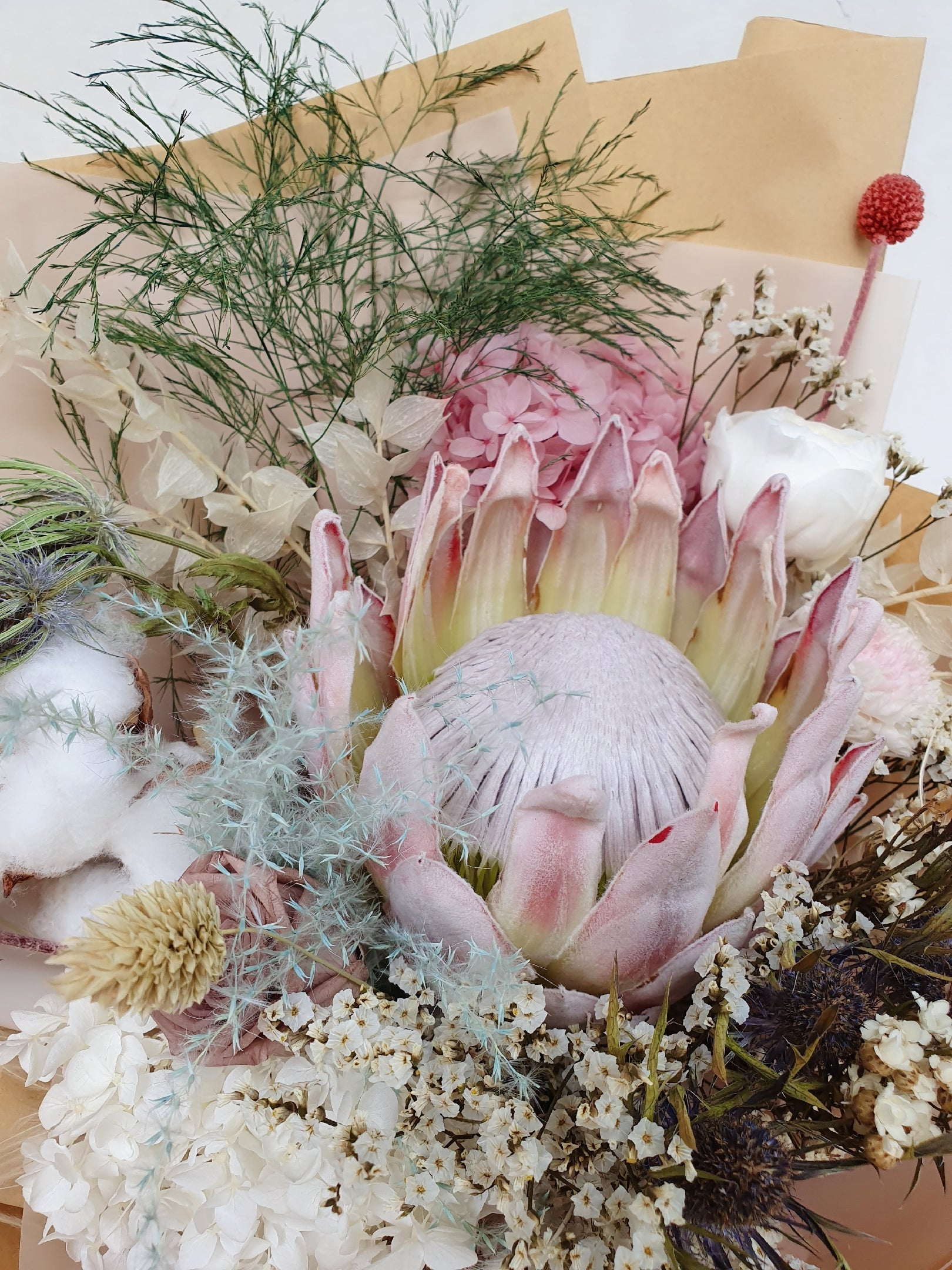 Protea Dried Bouquet - Happy Florals