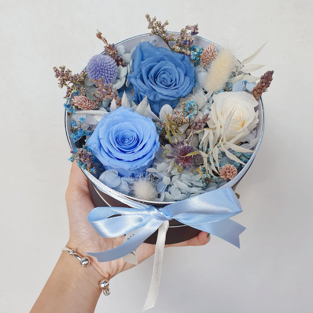 In blue - Happy Florals