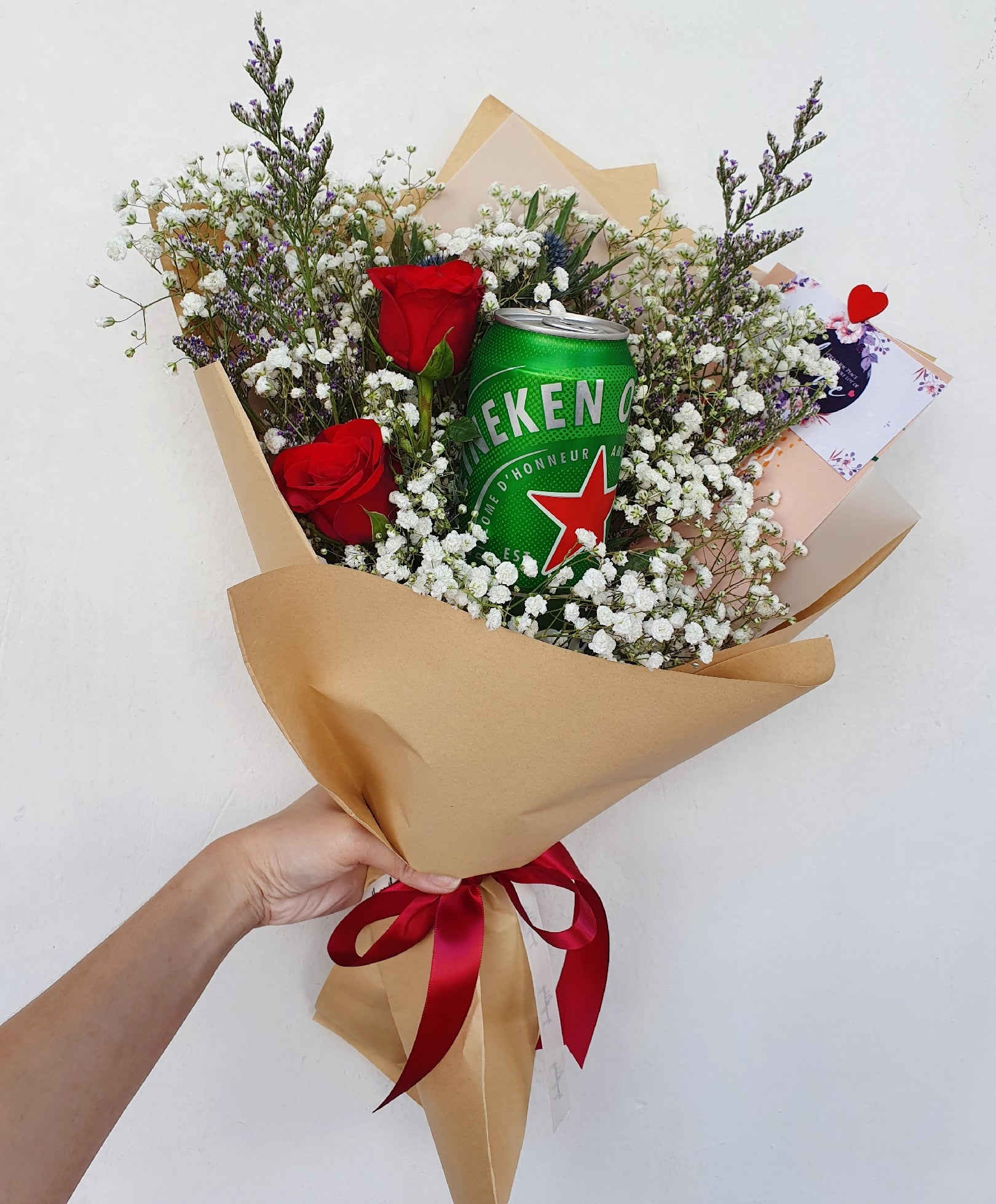 Heineken Beer Bouquet - Happy Florals