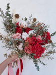 Rustic Everlasting Bridal Bouquet - Happy Florals
