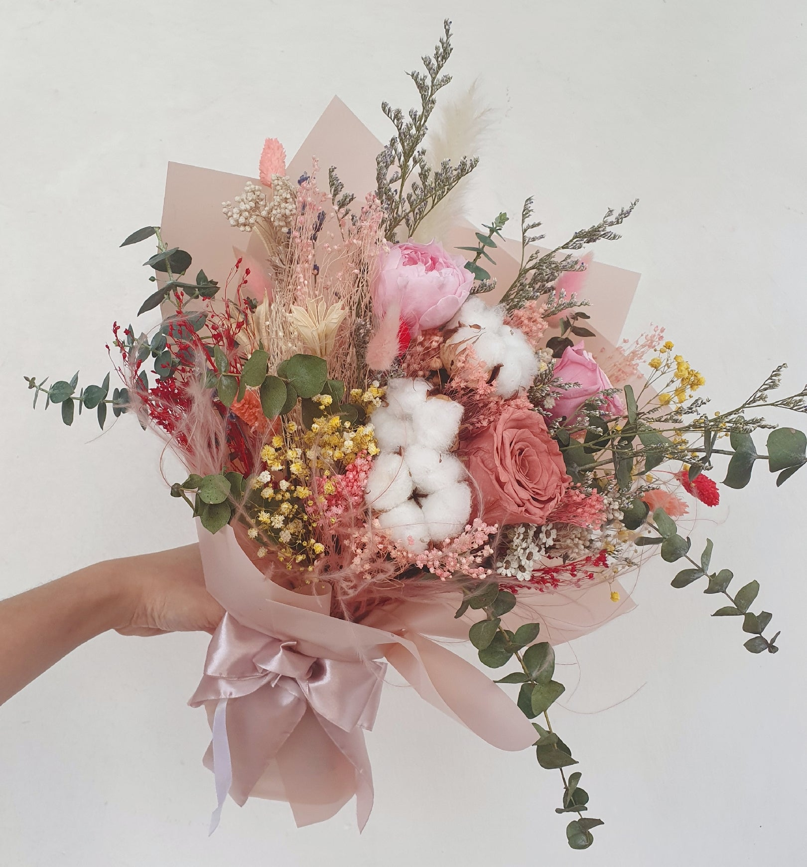 Dusty Pink - Happy Florals
