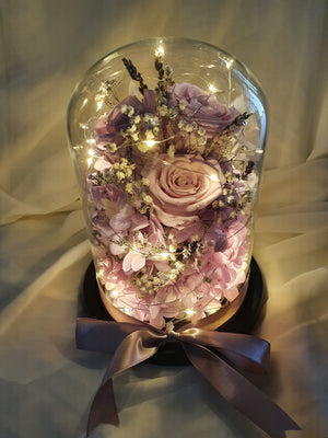 Flower Magic in a Glass Dome - Happy Florals