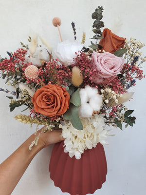 Rustic Brick Red - Happy Florals
