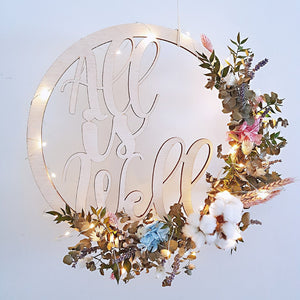 Customised Lasercut Wood Decor - Happy Florals
