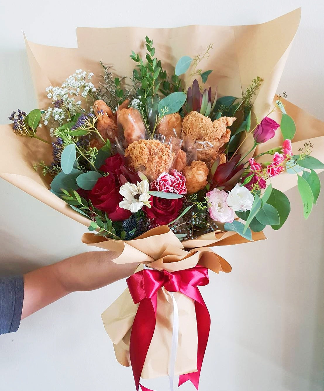 9 PCs Fried Chicken Bouquet - Happy Florals