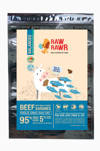 Raw Rawr Freeze Dried Beef And Wild Caught Sardines