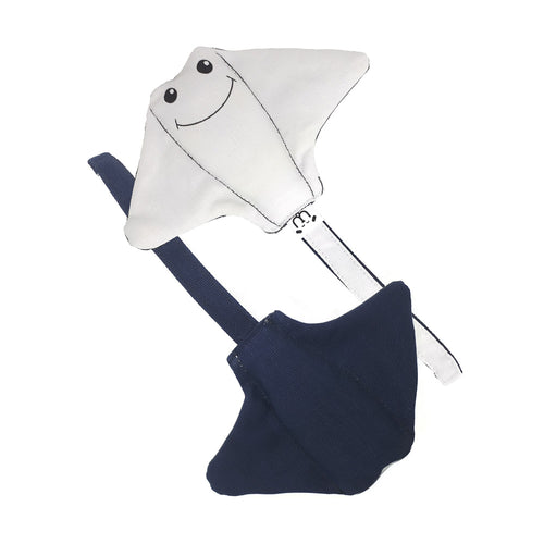 Manta Ray Denim Plush Toy