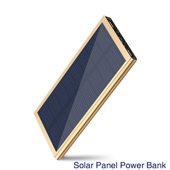 Solar Panel External Battery Charger Dual USB Port Power Bank DIY Assembly Set - gold