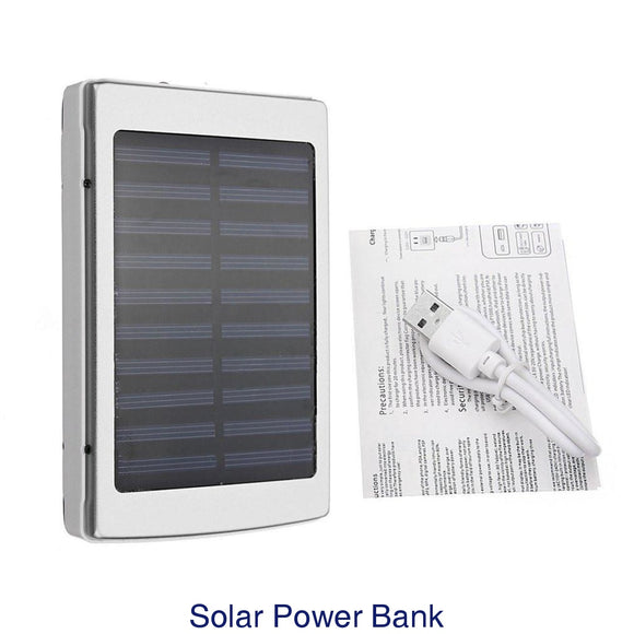 50000mAh Large Capacity Solar Panel Power Bank External Phone Battery Charger