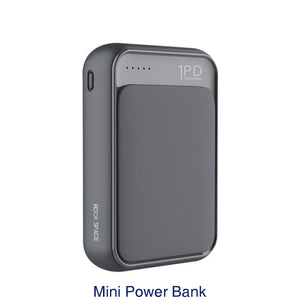 ROCK 18W Type C PD QC 3.0 Power Bank 10000mah Mini External Battery USB PD Quick Fast Charging Powerbank For iphone XS X Samsung