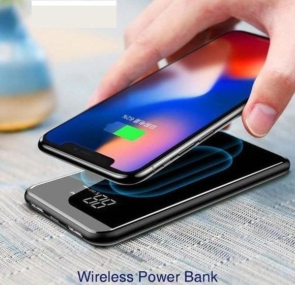 Baseus 8000mAh QI Wireless Battery Charger Power Bank For iPhone Samsung Wireless Battery Pack Bank
