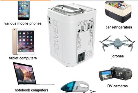 Portable sticky solar charger/Generator Charger Power Bank/AC Power Inverter