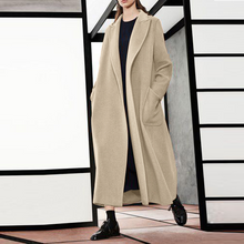 Fashion Korean Style Wide Lapel Long Sleeves Oversize Coat