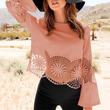 Lace Lace Patchwork Long Sleeve T-Shirt