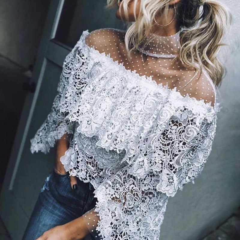 Autumn And Winter   Fashion Sexy Lace Top