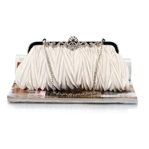 Zigzag Striped Evening Clutch Bag