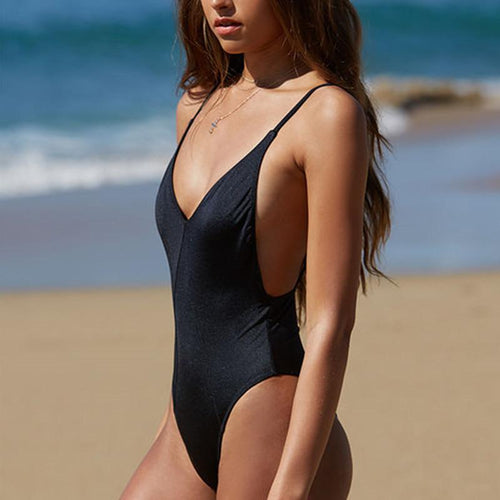Sexy Halter With Open-Back Swimsuit