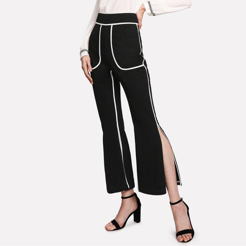 Fashion Slim Fit Slit Pants