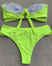 Chest Knotted Sexy Playful Ruffle Bikini