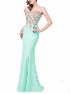 Formal See-Through Mermaid Evening Dress