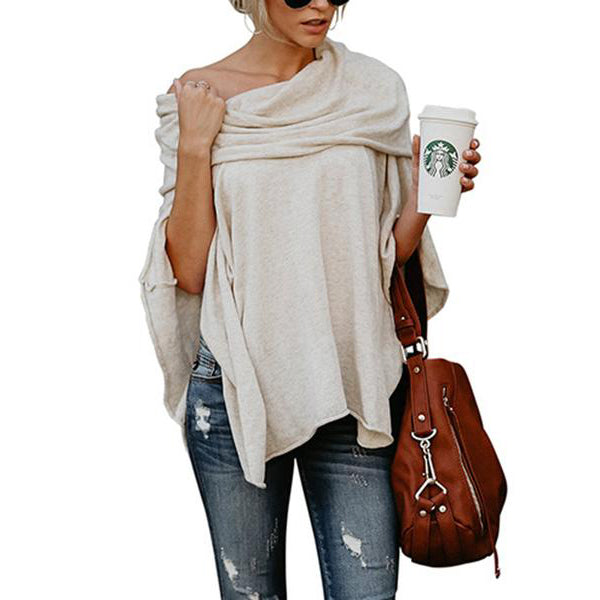 Off Shoulder  Plain Long Sleeve T-Shirts