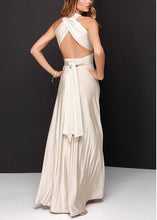 Multi-Rope Cross Halter Sexy Evening Dress