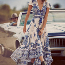 Vintage Printed Vacation Dress
