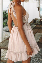 Sexy Elegant Pink Sleeveless Mini Dress