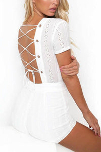 Sexy Fashion Lace-Up Rompers