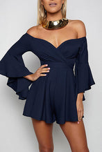 Stylish Off Shoulder Fluted Casual Romper