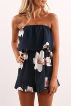 Sexy Fashion Sleeveless Floral Print Romper