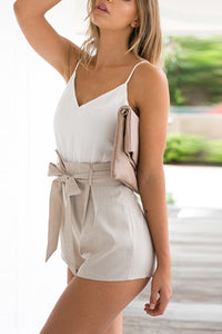 Fashion Splicing Sleeveless Vacation Romper