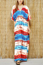 Casual Floral Print Vacation Beach Maxi Dress
