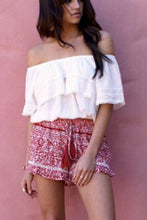 White Off Shoulder T-Shirts Blouses
