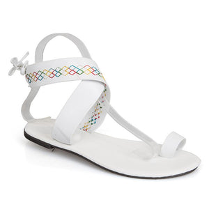 9aa4183c968 Bohemian Flat Ankle Strap Peep Toe Beach Casual Gladiator Sandals ...