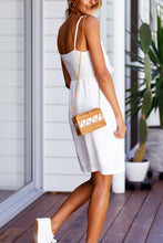 Spaghetti Strap  Backless Bow  Plain  Sleeveless Casual Dresses