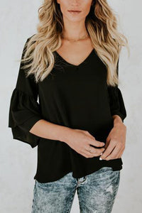 Sexy Plain Long Sleeves T-Shirts Blouses