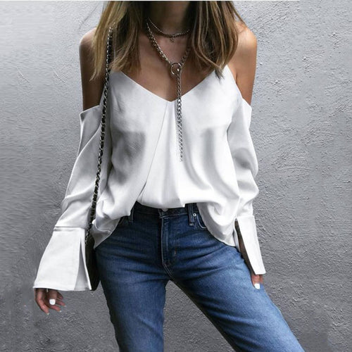 Spaghetti Strap Irregular Back Plain Blouse