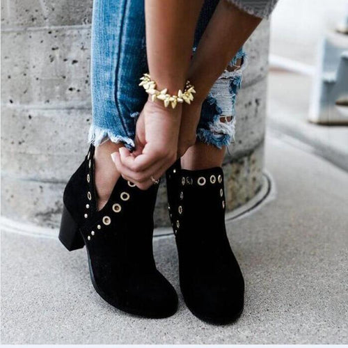 Fashion Solid Color Long Tube Female Boots
