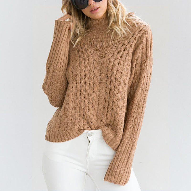 Sexy Loose Round Neck Long Sleeve Sweater