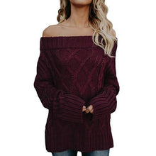 Sexy Off Shoulder Long Sleeve Knitting Sweaters