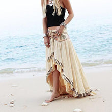 Vacation Casual Fashion Floral Irregular Hem Long Skirt