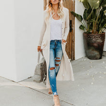 Long Casual Cardigan With Pockets