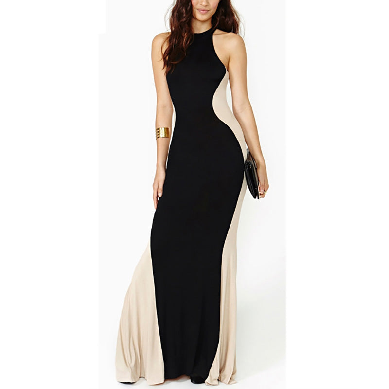 Modern Hanging Neck Sleeveless Evening Dress