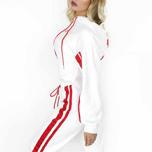 Casual Striped Sport Suit