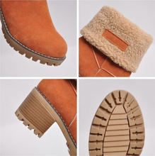 Winter   Thickened And Thick-Bottomed Lamb Wool Boots