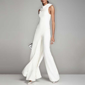 Casual Elegant Pure Colour Sleeveless Jumpsuits