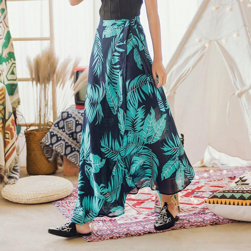Bohemian Holiday One-Piece Chiffon Beach Skirt