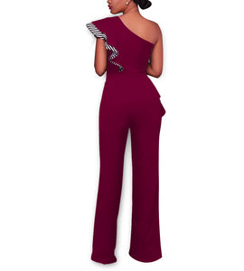 Casual Sexy Off The Shoulder High Waist Wide Leg Jumpsuit